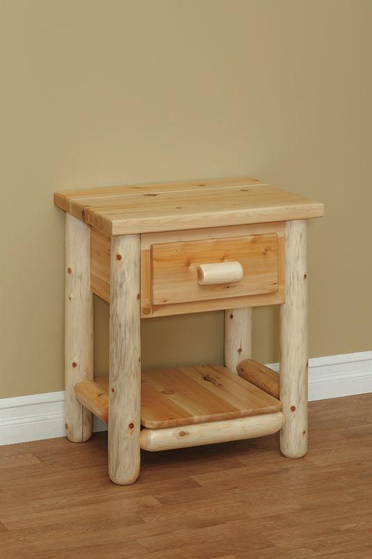 Photo of: CRL Great Lakes 1-Drawer Nightstand W/ Shelf