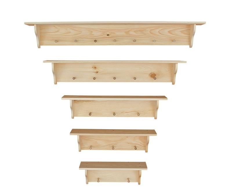 Photo of: DRP Pine Peg Shelves