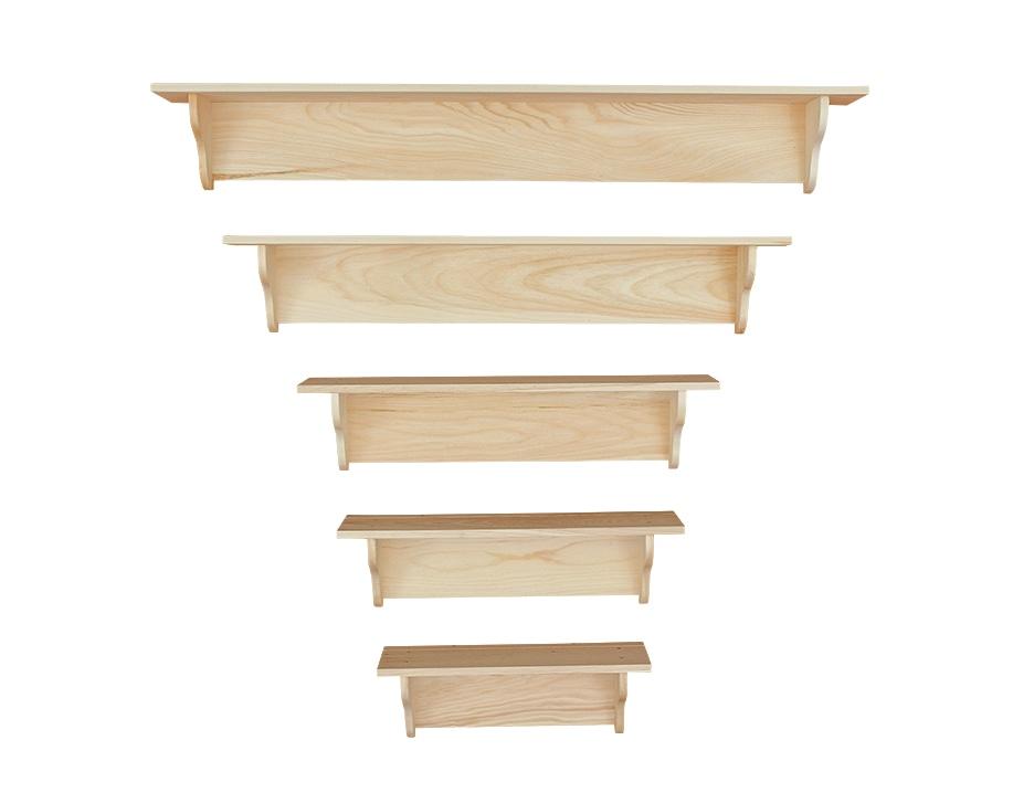 Photo of: DRP Pine Wall Shelves