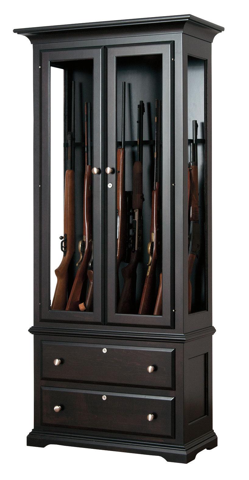 Photo of: JSW 8 Gun Cabinet W/ Drawers