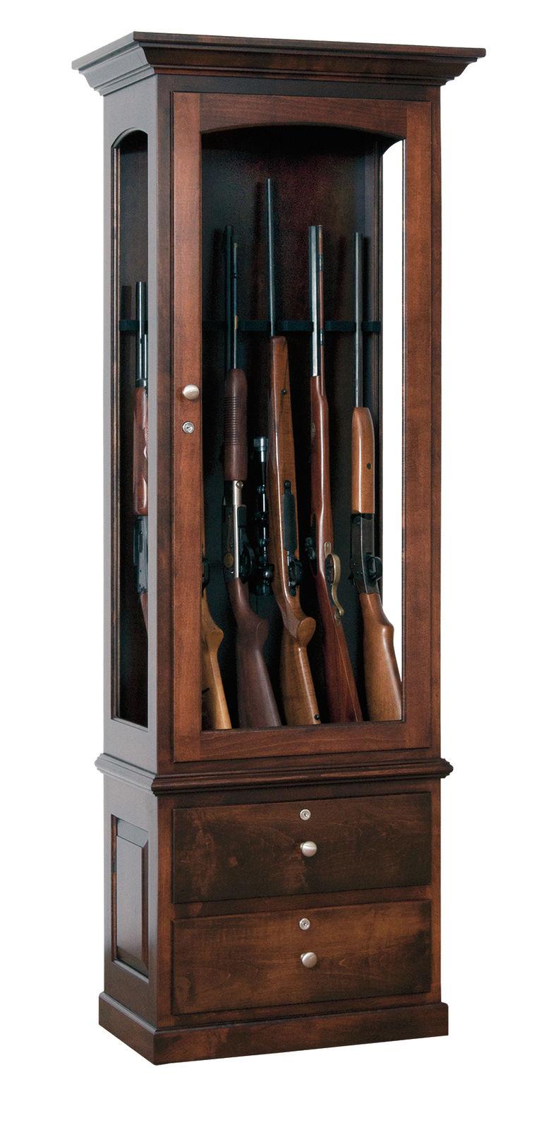 Photo of: JSW 6 Gun Cabinet W/ Drawers