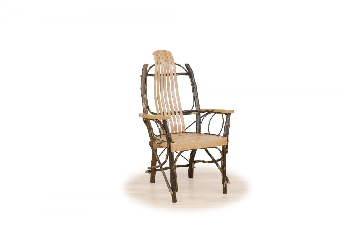 Photo of: BRF Rustic Bent Oak & Hickory Contour Chair