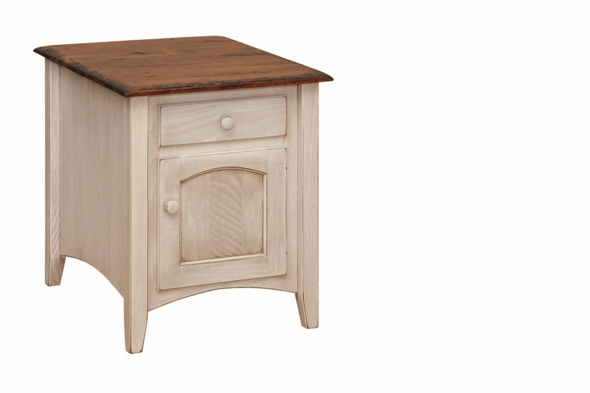 Photo of: FRW Shaker Cabinet End Table w/ Drawer